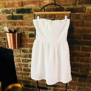 Gap Strapless White Dress